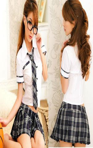 Costume Murid CAA23  Rp 105.000 termasuk rok, atasan, n dasi. Lingkar pinggang=72cm, LD=80cm, P atasan=48cm