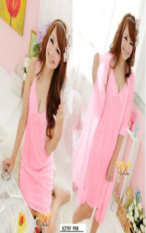 Kimono Lingerie SC7707 Pink  harga Rp 125.000,- tdk termasuk g string all size fit to XL. warna asli pink lebih muda