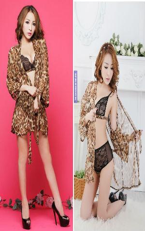 Kimono Bikini KAA88harga Rp 100.000,-panjang kimono 63cm, LD=81cm, motif macan