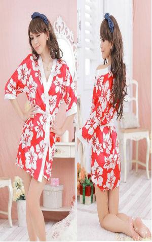 Kimono FG003 Rp 90.000,- Terdiri dari Kimono, Belt n G String  bahan satin, all size fit to L