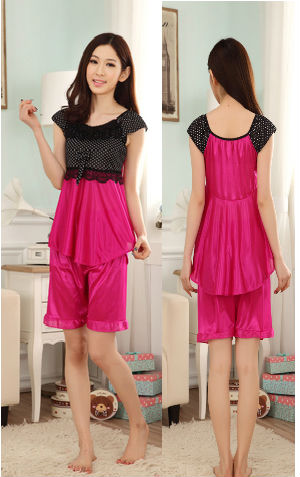 Sleepwear VL06 Pink Rp 110.000 atasan n bawahan bahan silky  tidak termasuk g string